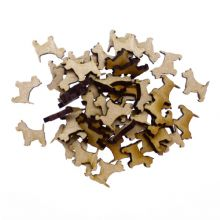 15 x Wooden Laser Cut MDF shapes Craft Blank Embellishments - Westie Dog 40mm